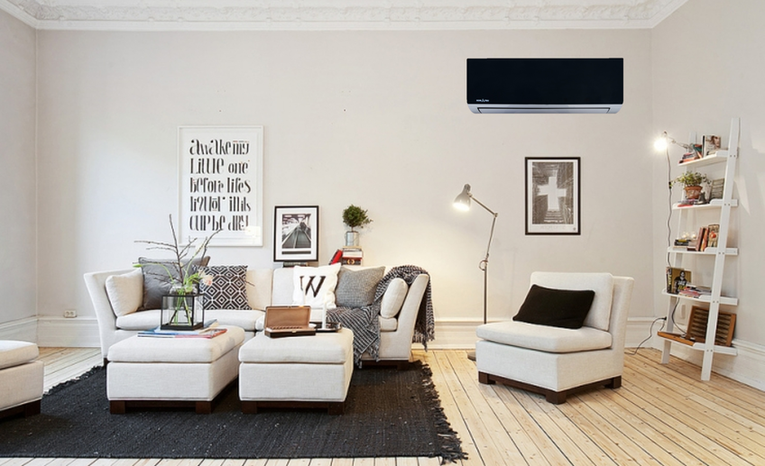 Как правильно выбрать модель кондиционера - черный кондиционер в комнате
